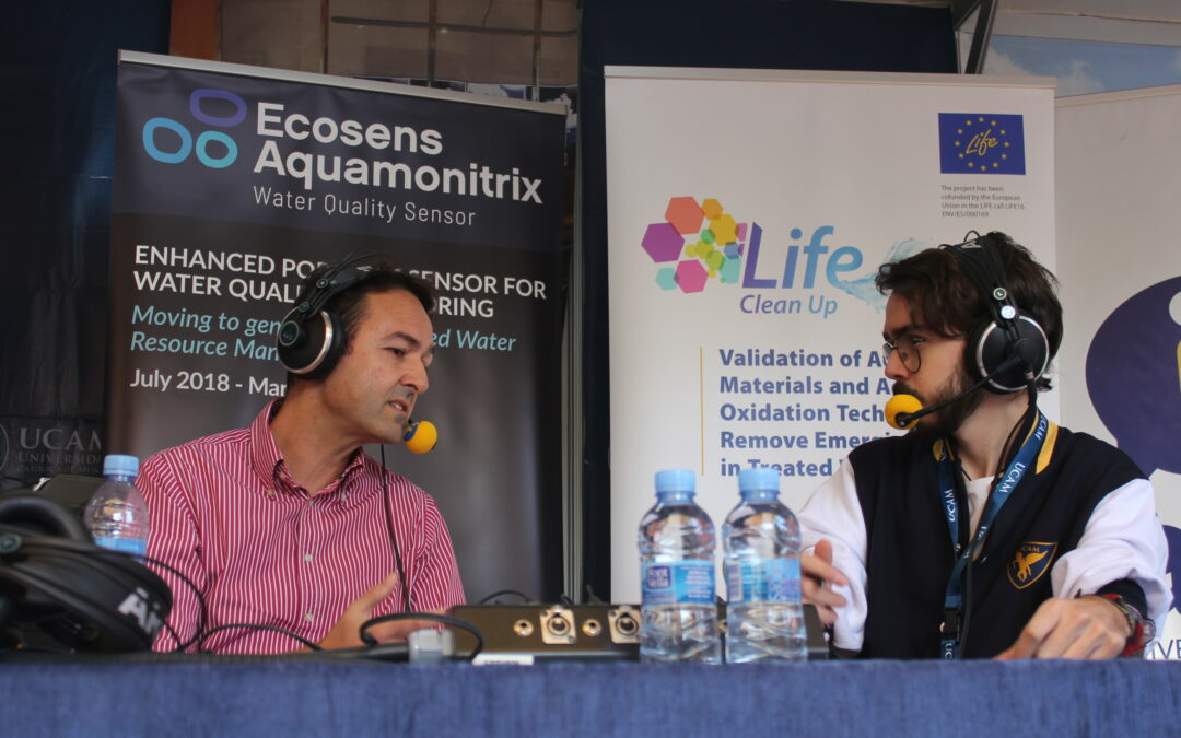 LIFE Ecosens Aquamonitrix on the air